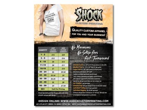 graphic design price flyer iverson designs
