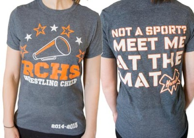 Custom Shirts – Screen Printing – Richland Center Girls Cheerleading