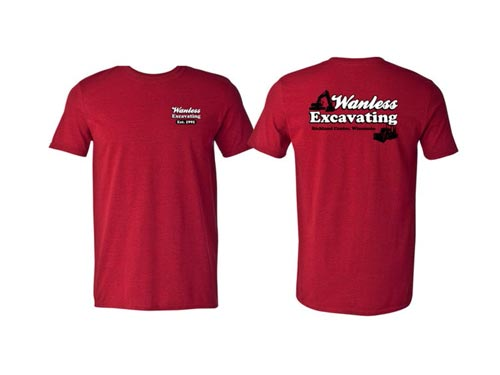 Screen Printing Shirts – Wanless Excavating