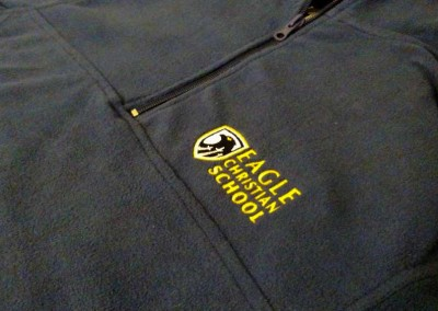 Custom Embroidery – Eagle Christian School Fleece 2