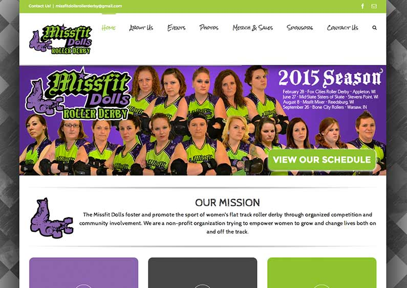 Website Design – Missfit Dolls – Missfitdolls.com