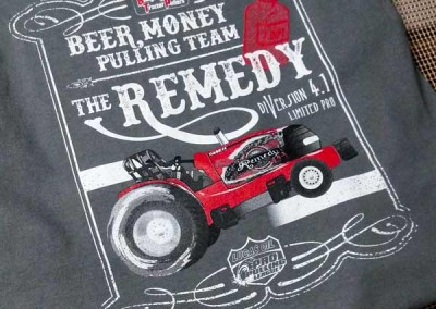 "Screen Printing – Beer Money Pulling Team ""The Remedy"""