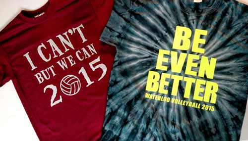 Custom Shirts – Waterloo Volleyball 2015