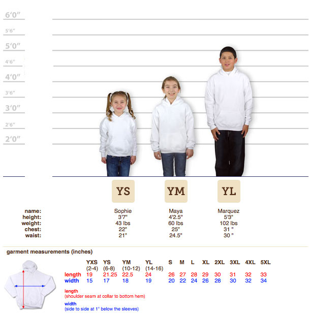Gildan T Shirt Size Chart Youth Best Picture Of Chart