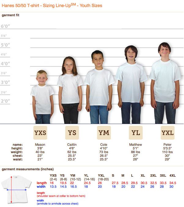 Hanes-shirt-youth-sizing