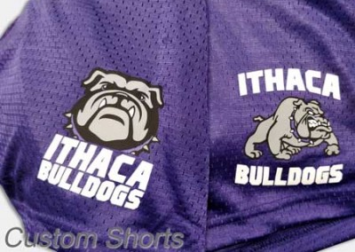 custom ithaca vinyl shorts