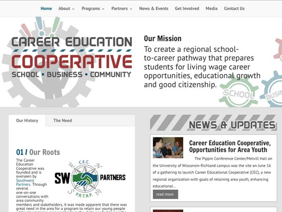 Career Education Coop Custom Responsive Website