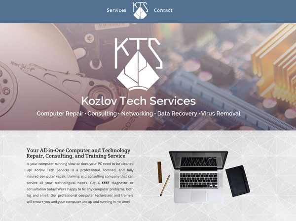 Kozlov Custom Web Design – Kozlovtechservices.com