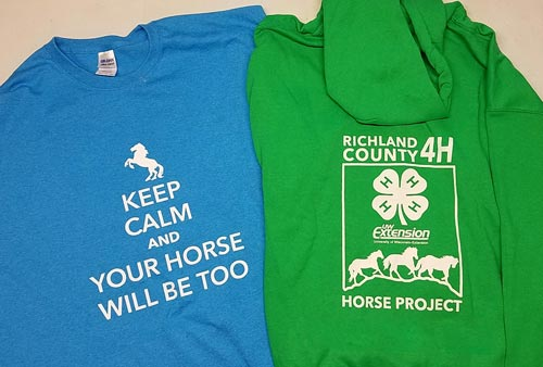 4H Horse Project Custom Screen Printed Shirts