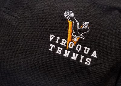 Viroqua Tennis Polo Custom Embroidery
