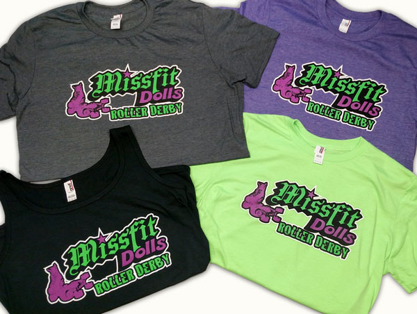 Roller Derby Custom Screen Printed Shirts