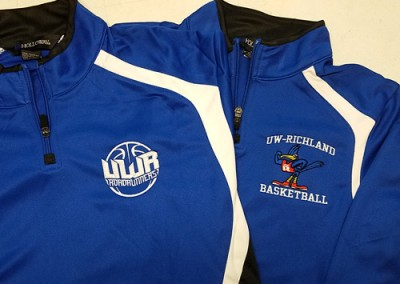 Custom Embroidered Basketball Warmups and Pullovers