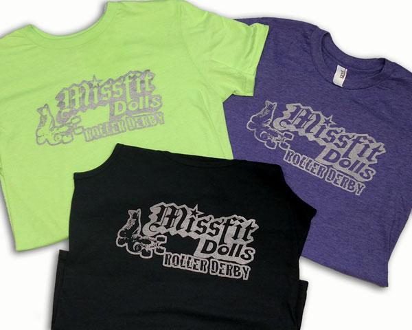 Missfit Dolls Roller Derby Custom Screen Printed Shirts