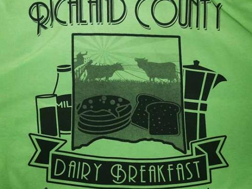 Richland County Dairy Breakfast Waterbase Screen Print