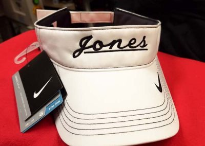 embroidered nike visor apparel