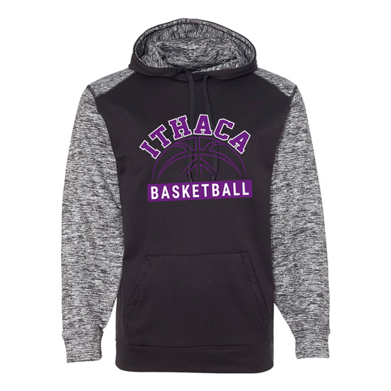 Ithaca b ball badger blend hoodie iverson designs for Ithaca t shirt printing