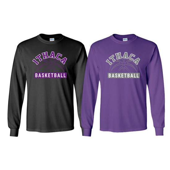 Ithaca b ball long sleeve iverson designs for Ithaca t shirt printing
