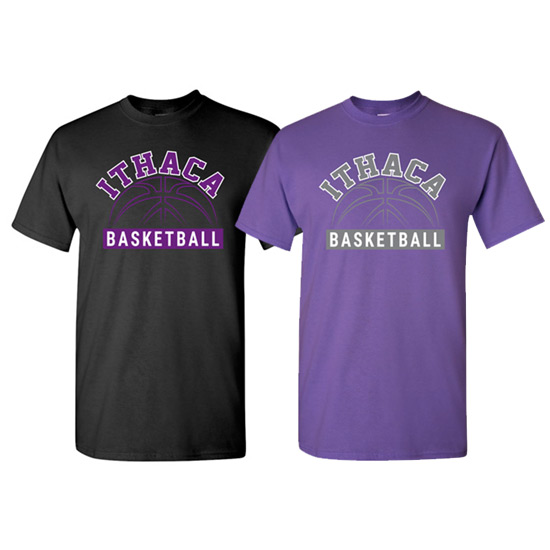 Ithaca b ball short sleeve iverson designs for Ithaca t shirt printing