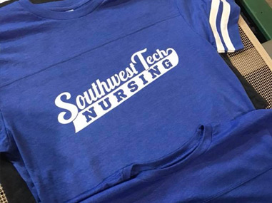Screen Printed College Nursing T-shirts