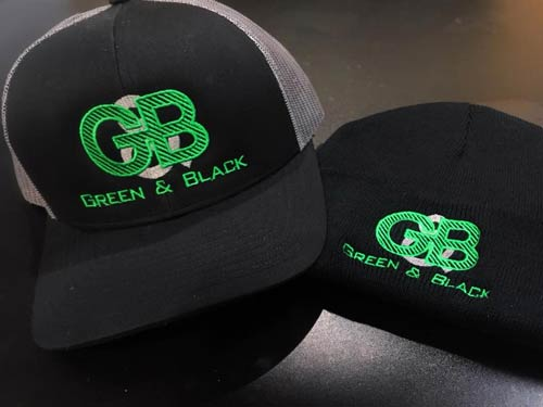 Green-black-minnesota-custom-hat-embroidery